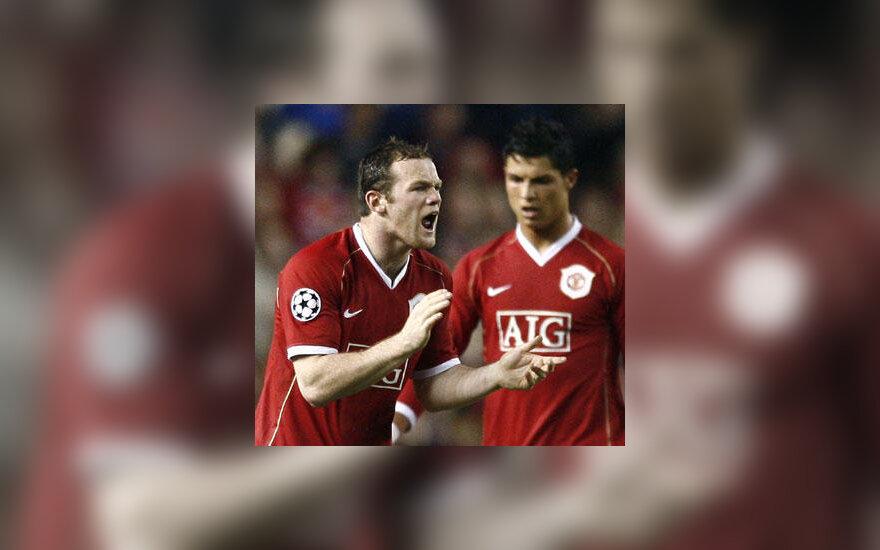 "Wayne'as Rooney ir Cristiano Ronaldo (""Manchester United"")"