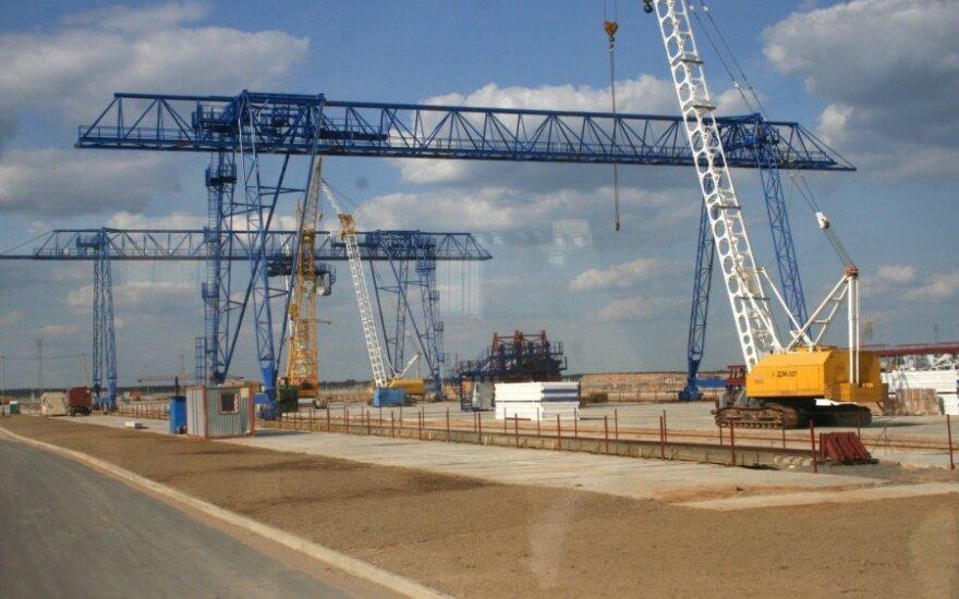 Astravets NPP construction site