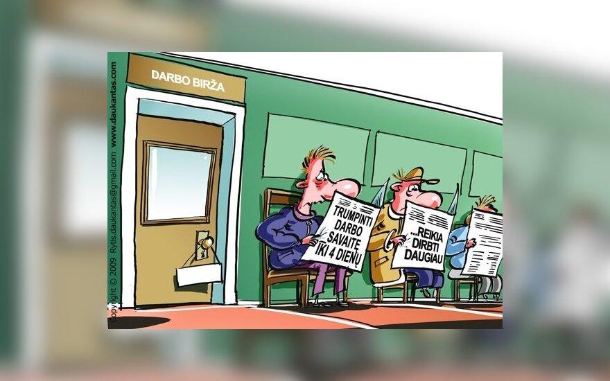 """Kovoje su nedarbu - siūlymas mažinti """"minimumą"""" jaunimui"""