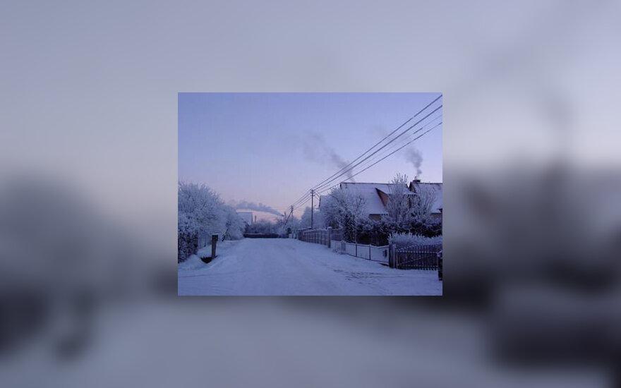 kaimas, žiema