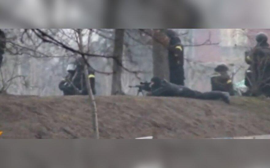 Paviešintas snaiperių, šaudžiusių į protestuotojus, pokalbių įrašas