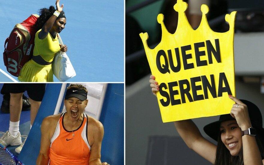 Serenos Williams ir Marijos Šarapovos mūšis – jau ketvirtfinalyje (Reuters nuotr.)