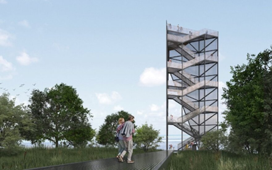 Rusnėje iškils 28 metrų apžvalgos bokštas: matysis ir Ventės ragas, ir Kuršių marios