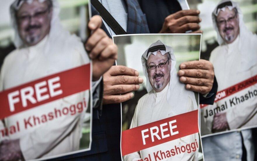 Protestuotojai reikalauja tyrimo dėl Jamalo Khashoggi  dingimo