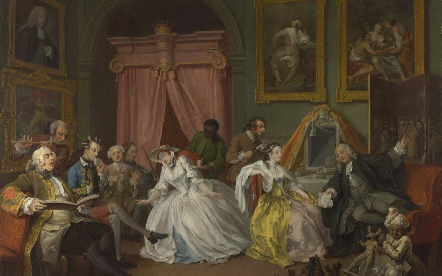 Marriage. A - la Mode. William Hogarth - The National Gallery, Public Domain