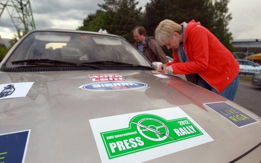 Pasiruošimas Žurnalistų raliui 2012