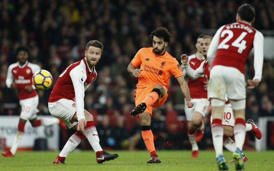 """Egiptietis Mohamedas Salah (""""Liverpool"""") """"Premier"""" lygoje pelnė jau 15-ąjį įvartį."""