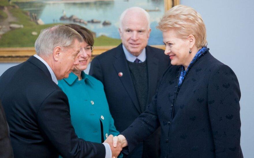 Lindsis Grehemas ir Dalia Grybauskaitė