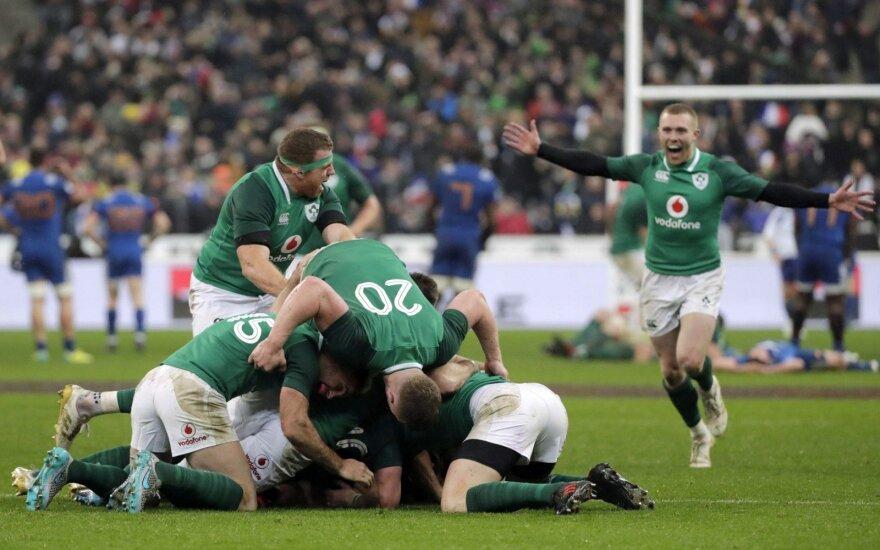 """""""Šešių nacijų"""" turnyre – tikras airių stebuklas"""