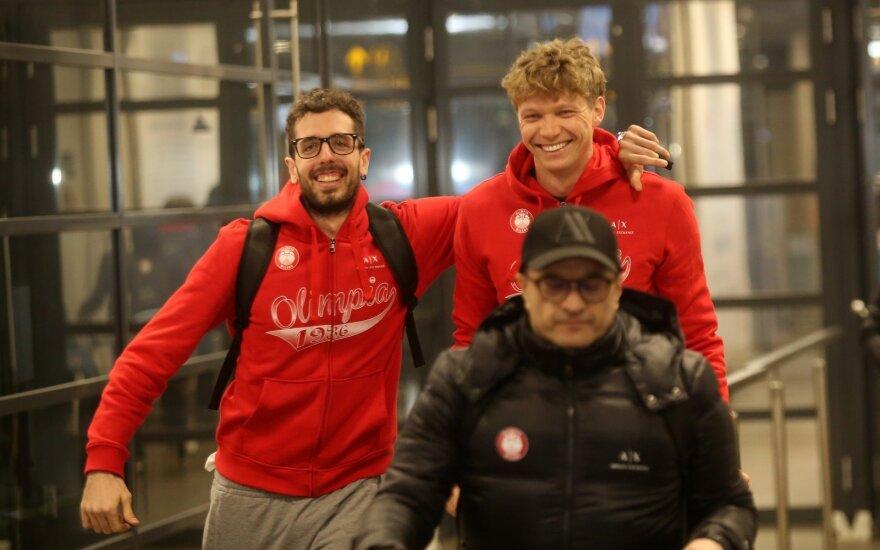"""Milano """"AX Armani Exchange""""  krepšininkai atvyko į Kauną"""