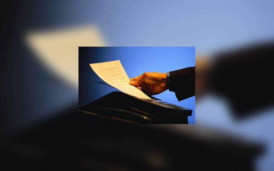 Dokumentai, popierius, ofisas, ranka