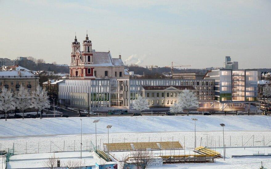 """""""Clarion"""" viešbutis prie Vilniaus Šv. apaštalų Pilypo ir Jokūbo bažnyčios"""