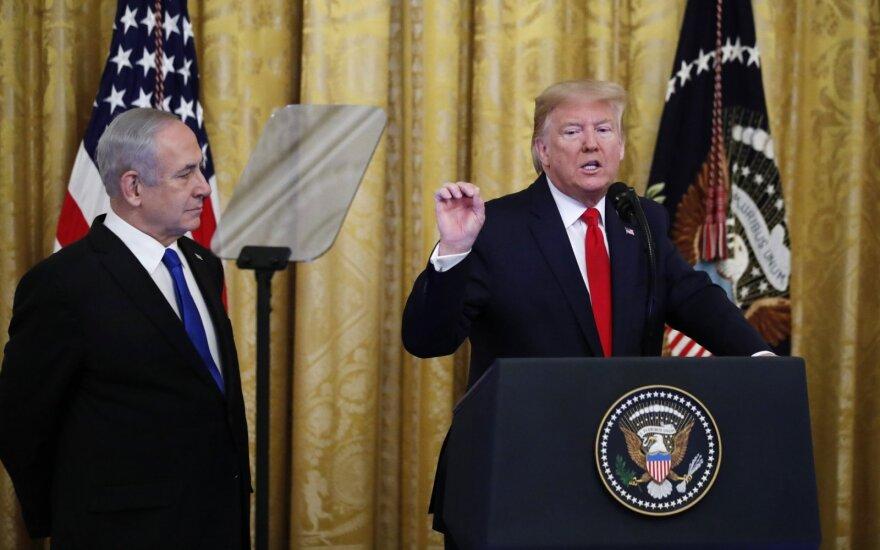 Donaldas Trumpas pristatė savo planą Artimiesiems Rytams