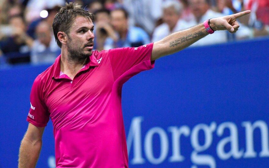 """US Open"": A. Murray krito prieš K. Nishikorį, o J. M. del Potro – prieš S. Wawrinką"