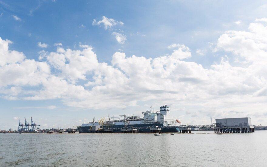 Į Klaipėdą atplaukė didelis rusiškas dujų krovinys iš Sibiro