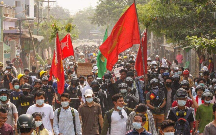 Protestai Mianmare