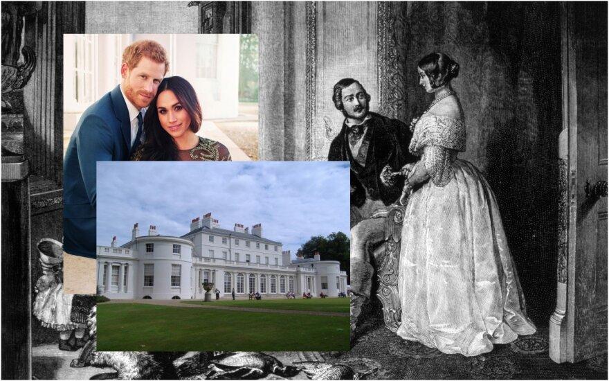 Karalienė Viktorija ir princas Albertas, princas Harry ir Meghan Markle, Frogmore rūmai