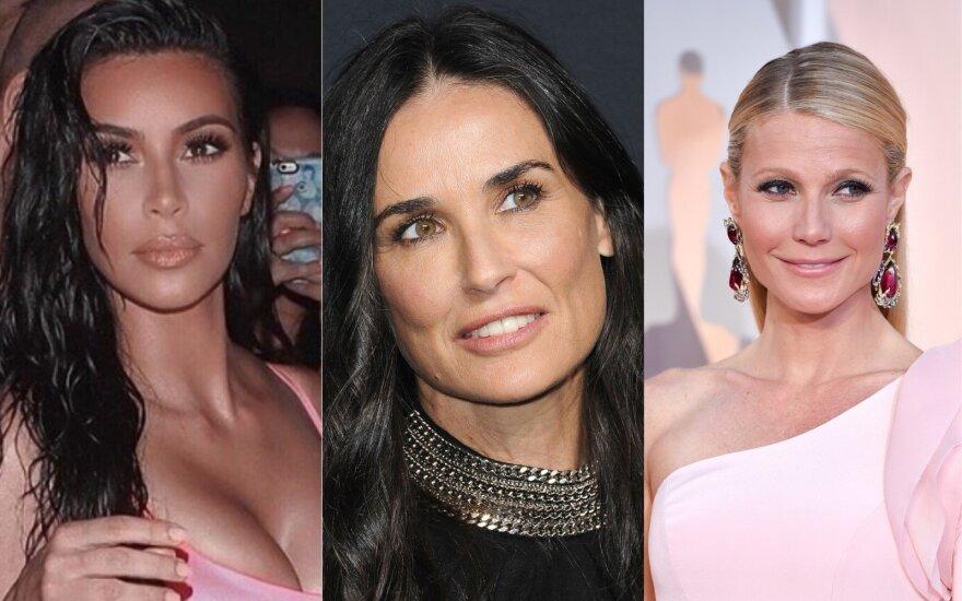 Kim Kardashian, Demi Moore, Gwyneth Paltrow