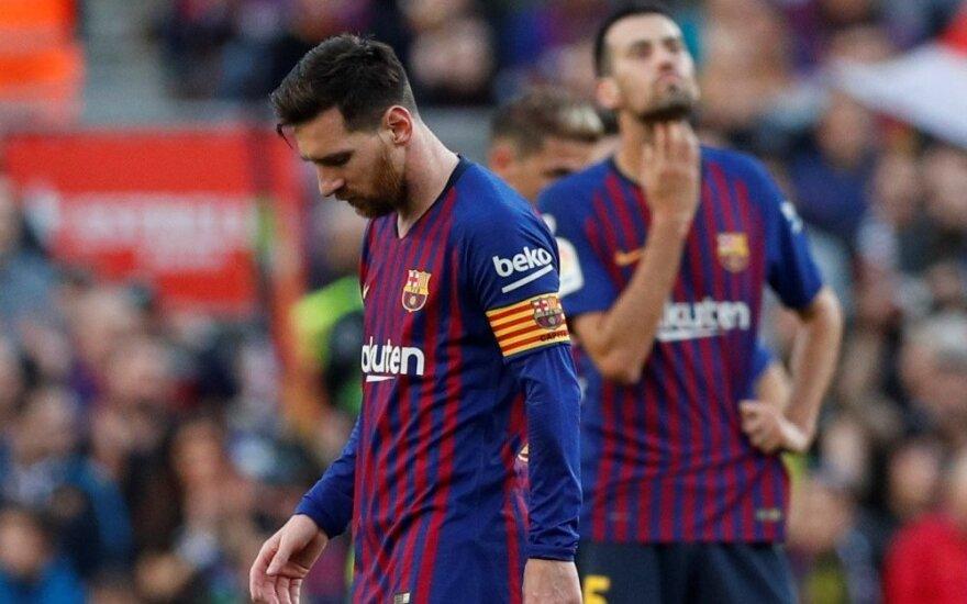 """Messi sugrįžo ir kartu su """"Barca"""" gavo sensacingą antausį"""