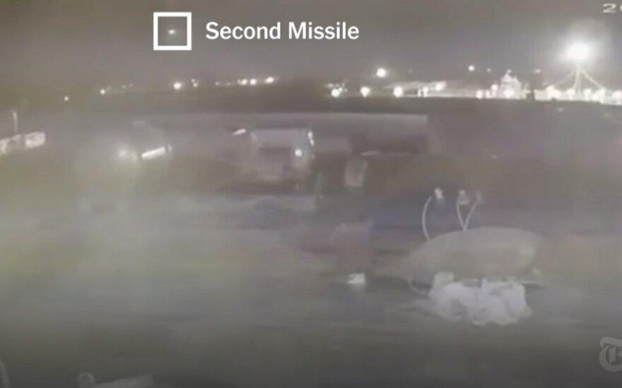 """Ukrainos laineris numuštas dviejų raketų - """"New York Times"""" stop kadras"""