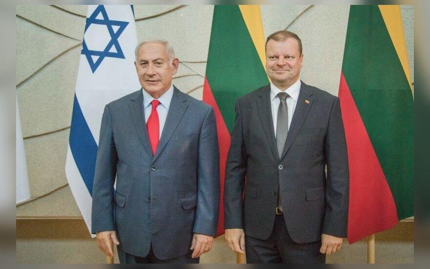 Lietuvoje viešintis Izraelio premjeras Benjaminas Netanyahu