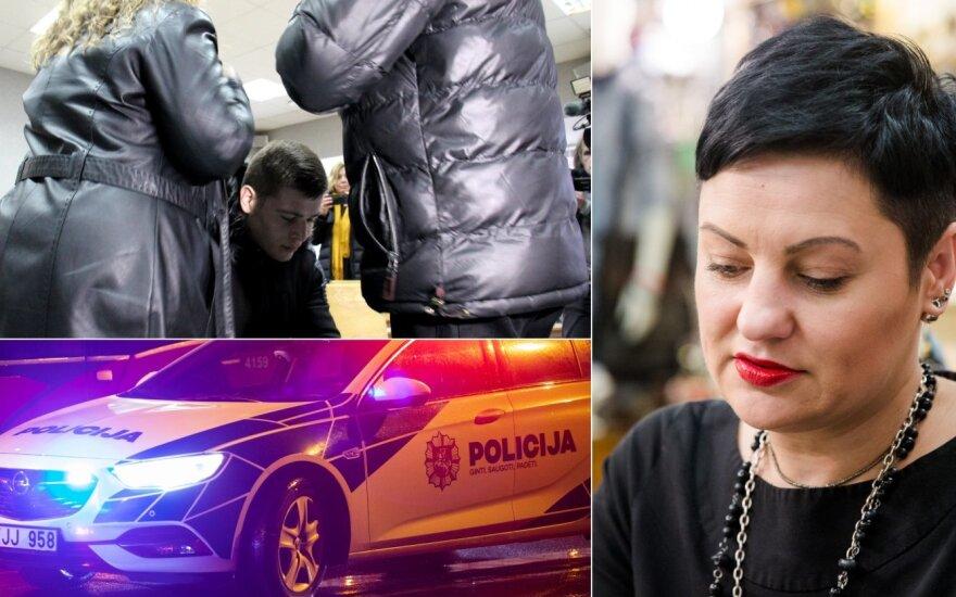 Dizainerė Mangirdienė, Jurbarko smurtautojas, policija