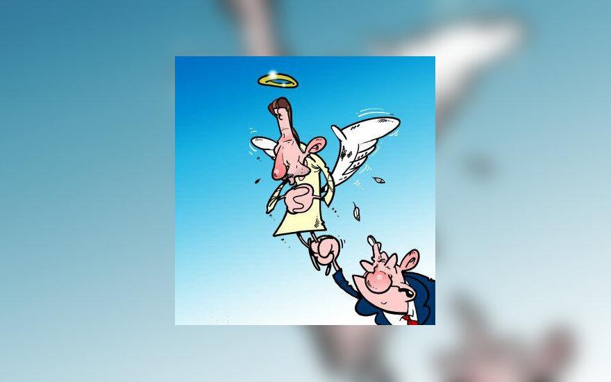 Didžiausios rinkėjų paramos Seimo rinkimuose sulaukė V.Uspaskicho vadovaujama Darbo partija - karikatūra