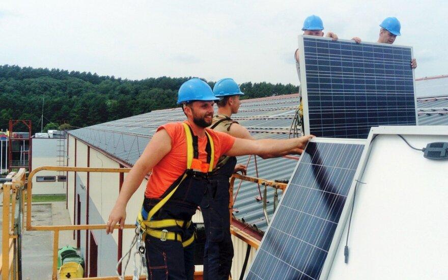 Saulės jėgainės Grindoje