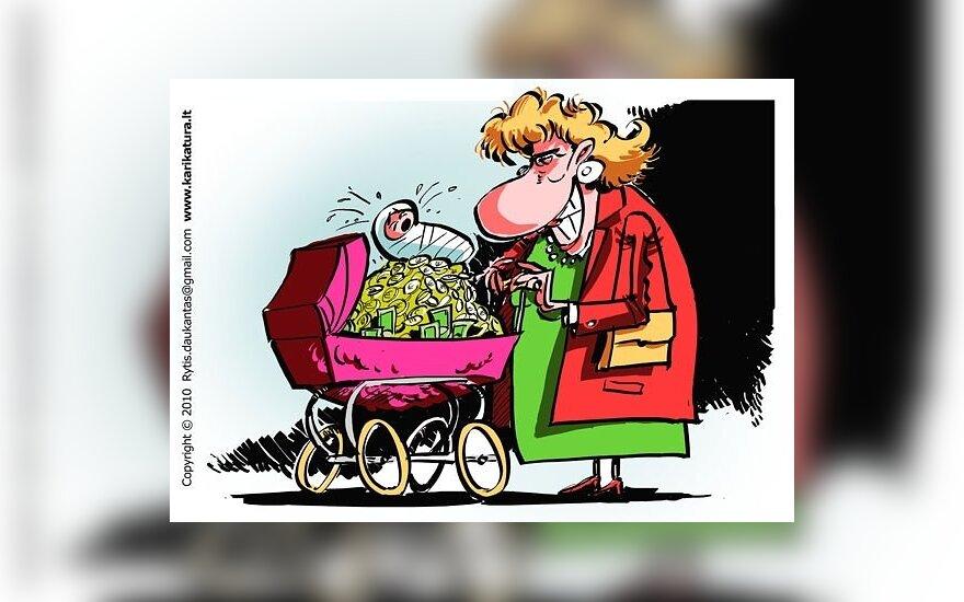 Kėsintasi gauti beveik milijoną litų motinystės pašalpų