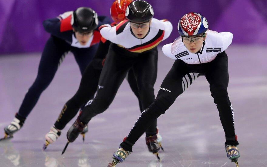 Priekyje - Pietų Korėjos čiuožėja Sukhee Shim