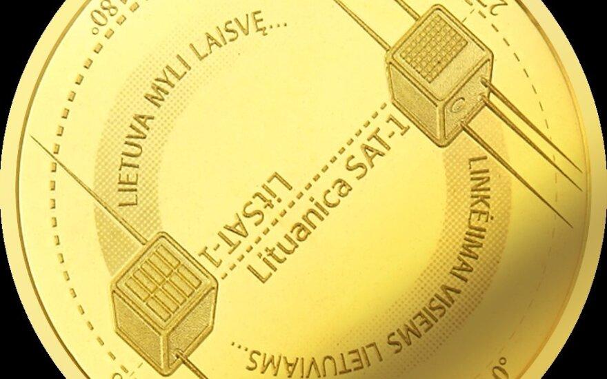 Lietuvos bankas išleidžia kosmosui skirtą aukso monetą