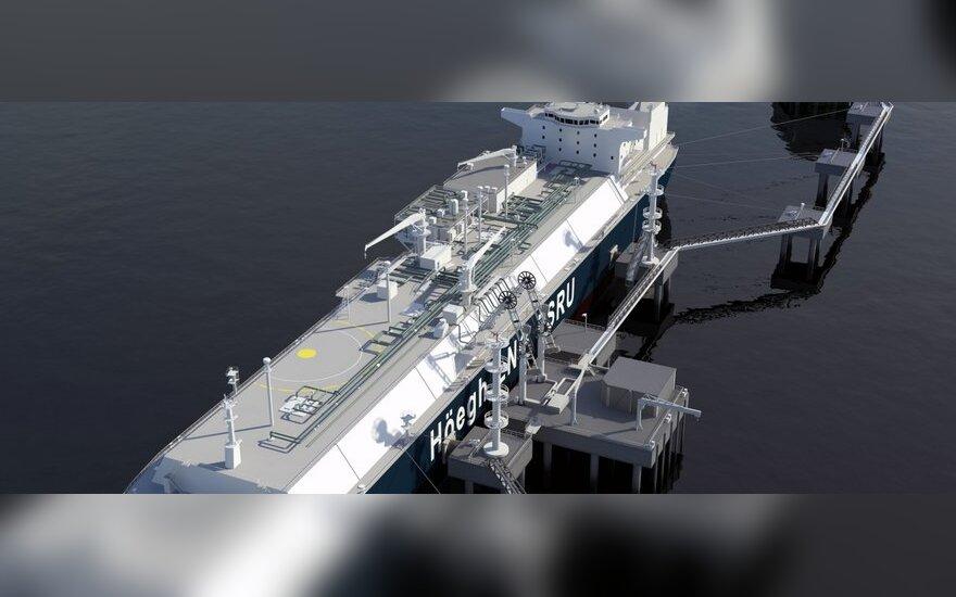 Suskystintų gamtinių dujų terminalas - laivas