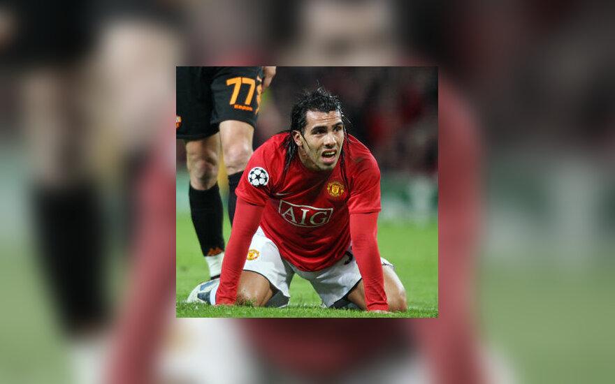 "Carlosas Tevezas (""Manchester United"")"