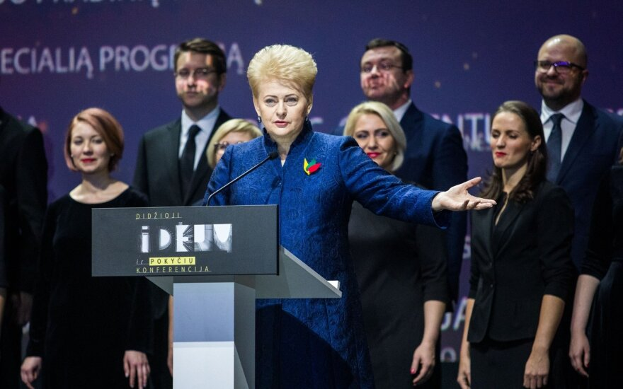 "Dalia Grybauskaitė at the conference ""ideas for Lithuania"""