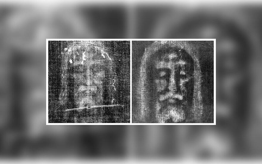 Turino drobulė (kairėje) ir jos kopija