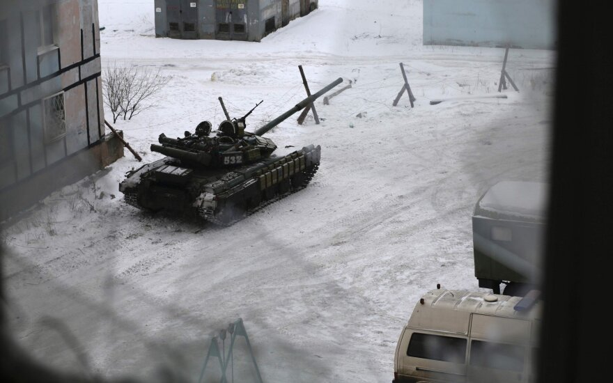 russian tanks in Avdiyvka, Ukraine
