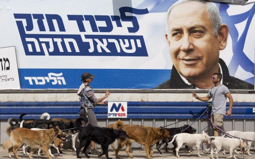 Benjamino Netanyahu rinkimų plakatas