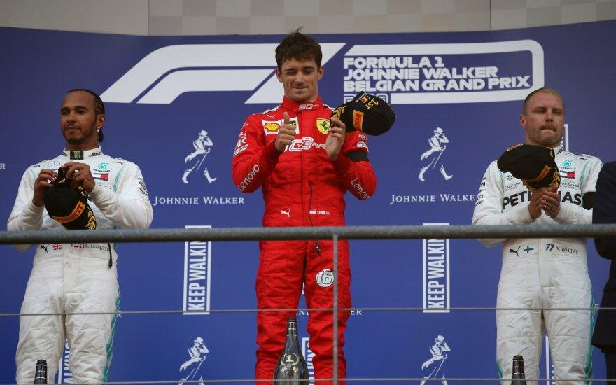 Charlesas Leclercas iškovojo pirmąją karjeros pergalę