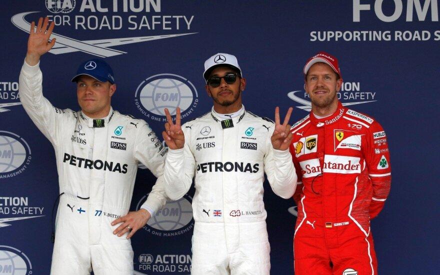 Valtteri Bottas, Lewisas Hamiltonas, Sebastianas Vettelis