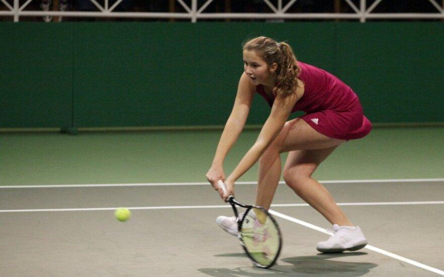 Lietuvių pralaimėjimai jaunių teniso turnyro Vokietijoje vienetų varžybų šešioliktfinalyje