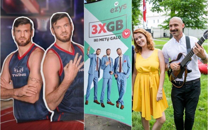 Broliai Lavrinovičiai, reklama, Jurgis ir Erica Didžiuliai