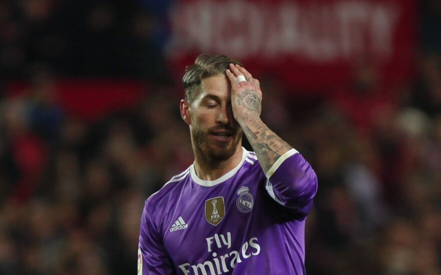 Madrido Real, Sergio Ramosas mačo pabaigoje įsimušė į savo vartus