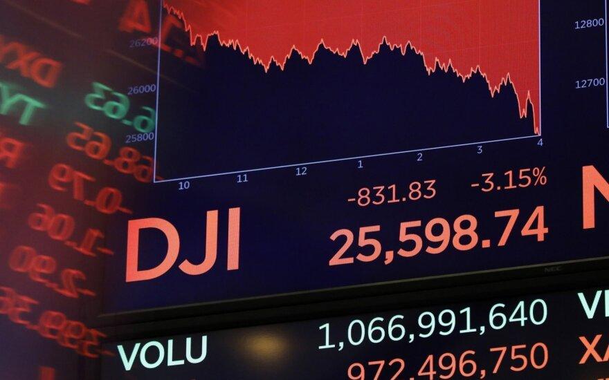 Akcijų indeksai prasidedant savaitei neįgavo aiškios krypties