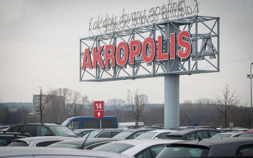 """Per Kalėdas ir Naujuosius metus keisis """"Akropolių"""" darbo laikas"""
