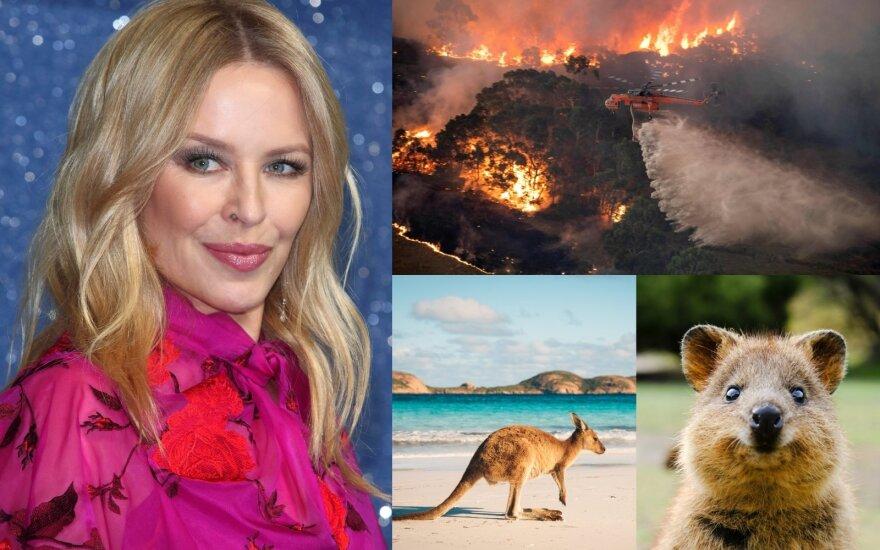 Gaisrų siaubiamą Australiją šlovinantis klipas su Kylie Minogue sulaukė pašaipų: tai lyg pigi parodija