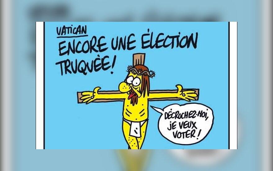 """""""Charlie Hebdo"""" viršeliai katalikiškomis temomis"""