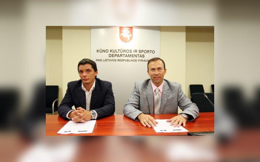 M.Vybornas (kairėje) ir V.Visockis