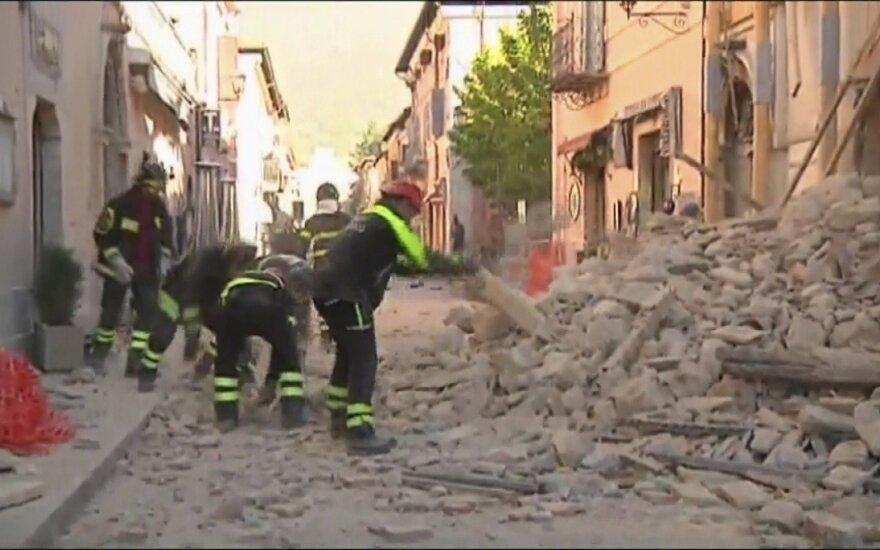 Žemės drebėjimas Italijoje