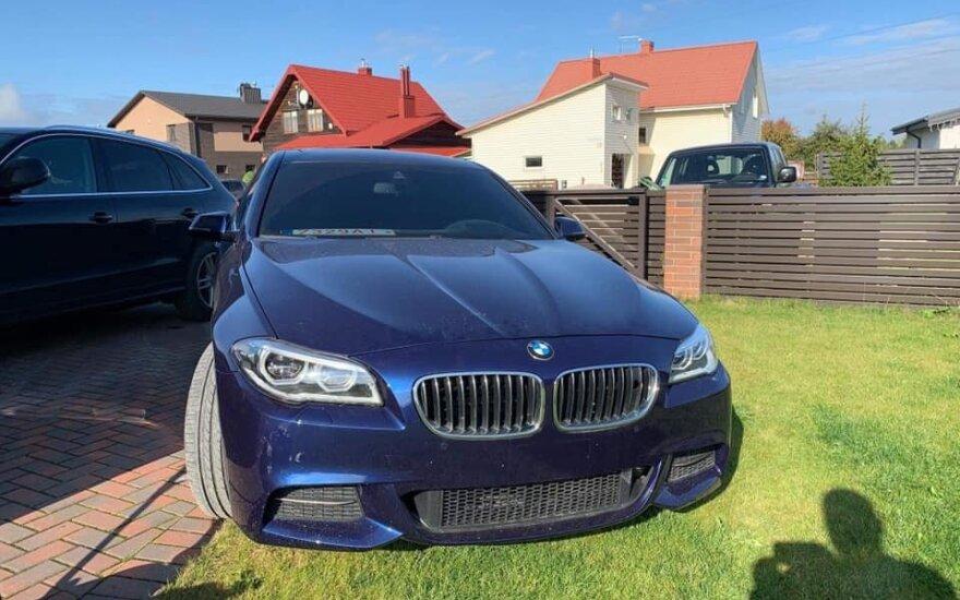 Kaune Aleksote naktį dingo prabangus BMW 550i