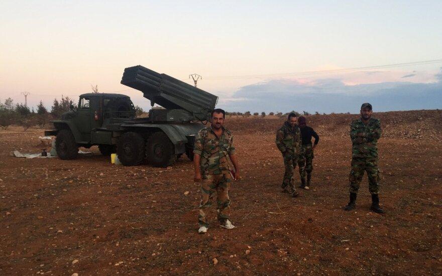Sirija teigia numušusi dešimtis Izraelio raketų
